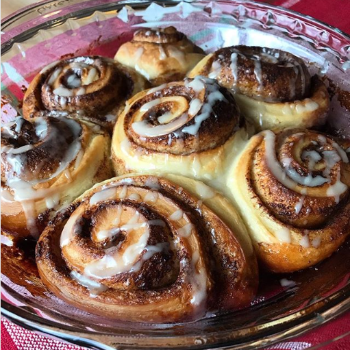 "Screenshot_2019-06-28 Jenny on Instagram ""Sourdough Cinnamon Rolls recipe Makes 12 cinnamon rolls Starter · 50 g water · 50[...]"