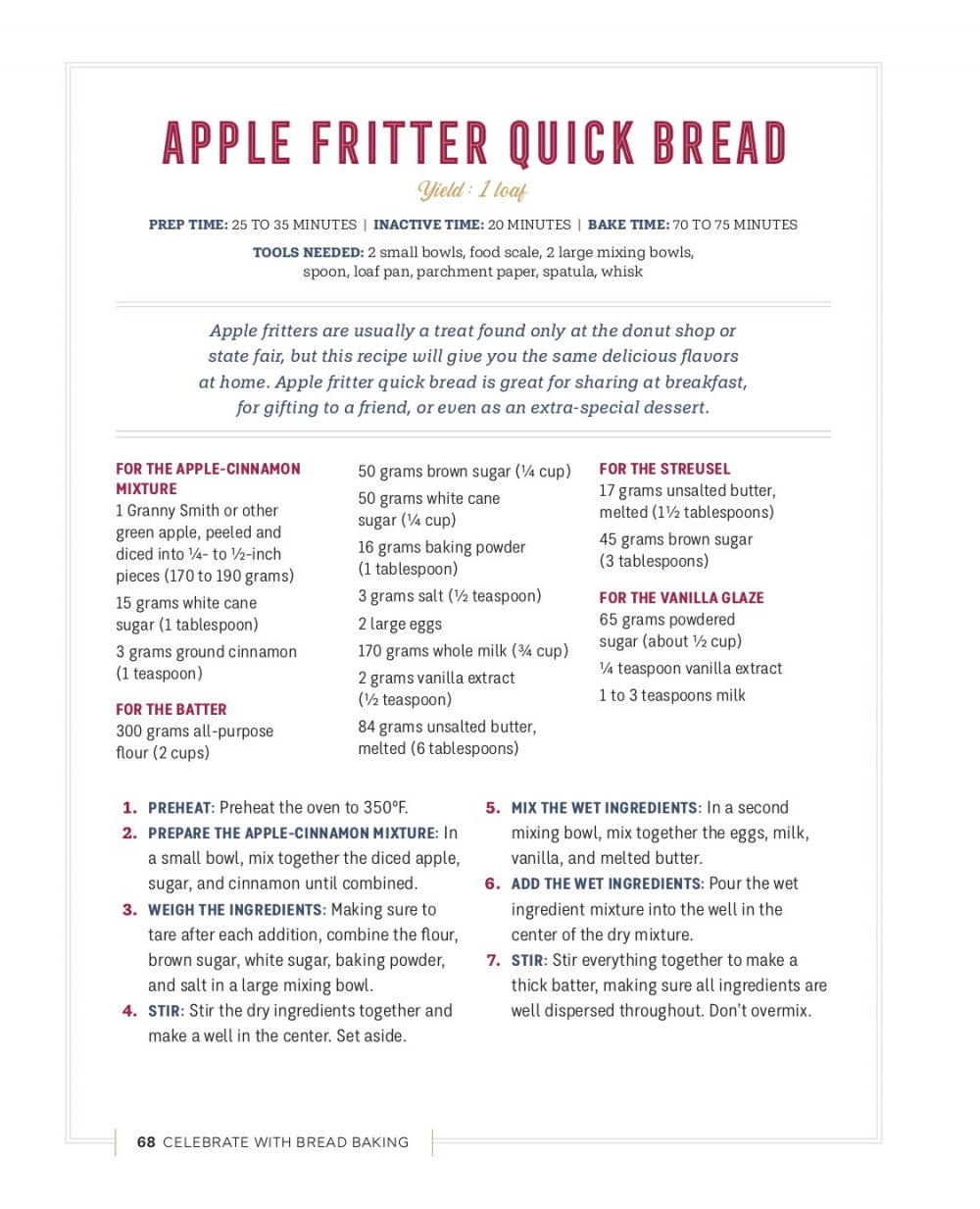 Apple Fritter Quick Bread_1