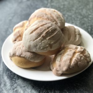 Naturally Fermented Pan Dulce Conchas (Sweet Shell Bread)